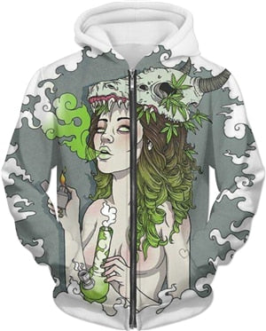 Mother Nature Bong Zip Hoodie