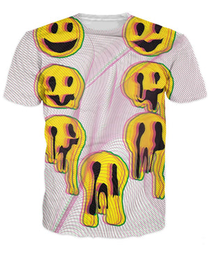 Trippy Acid Drip Smiley Face T-Shirt