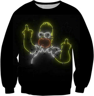 Homer Simpson Middle Finger Sweatshirt