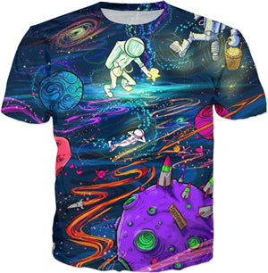 Trippy Outta-Space Astronaut T-Shirt