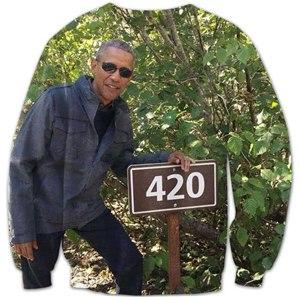 Barack Obama 420 Sweatshirt