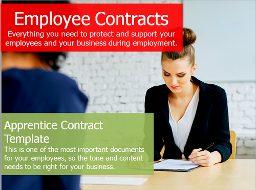 Employment Contract - Apprenticeship Contract Template