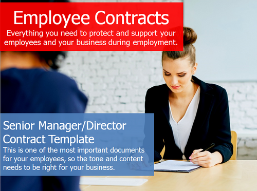 Employment Contract - Senior Manager/Director Contract Template