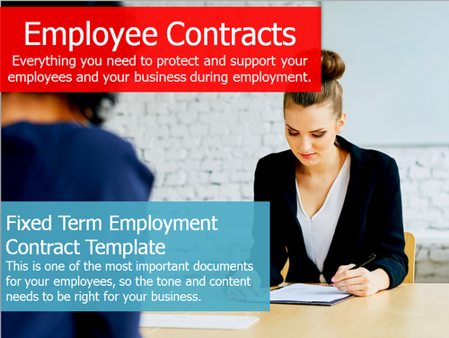Employment Contract - Fixed Term Template