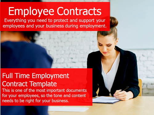 Employment Contract - Full Time Template