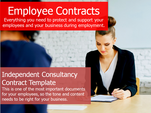 Employment Contract - Independent Consultancy Contract Template