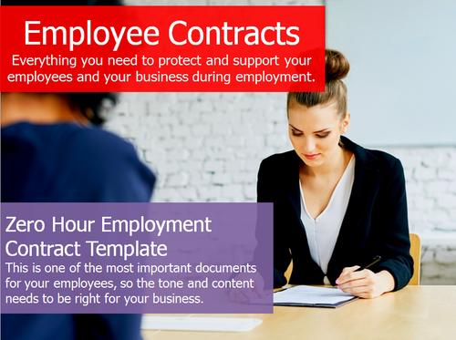 Employment Contract - Zero Hours Template