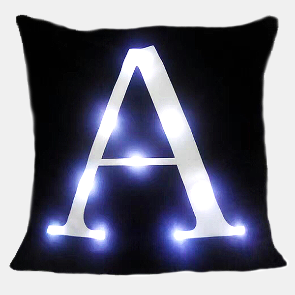 LED Letter Pillow Case