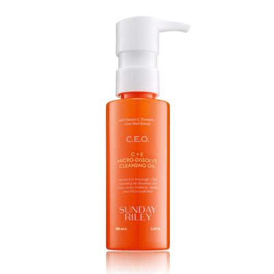 Bright Orange bottle of CEO Cleansing Oil