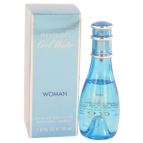COOL WATER by Davidoff Eau De Toilette Spray 1 oz for Women