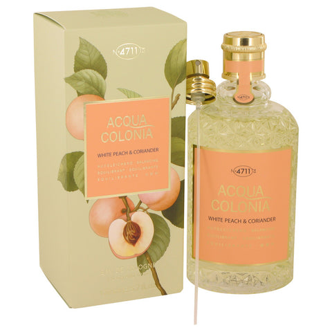 4711 Acqua Colonia White Peach & Coriander by Maurer & Wirtz Eau De Cologne Spray (Unisex) 5.7 oz for Women