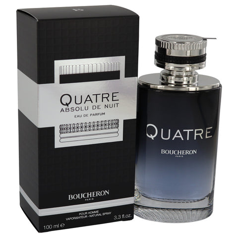 Quatre Absolu De Nuit by Boucheron Eau De Parfum Spray 3.3 oz for Men