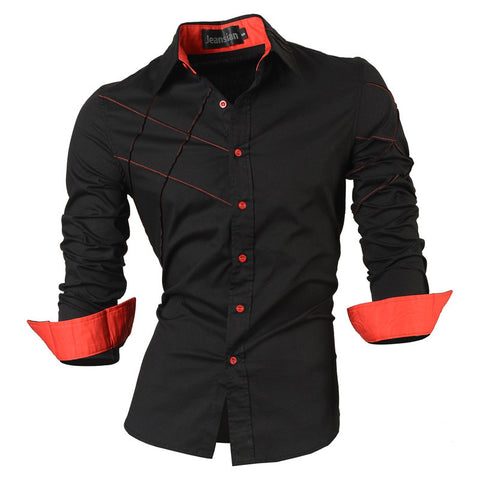 Casual shirts dress male mens clothing long sleeve social slim fit brand boutique cotton western button white black t 2028