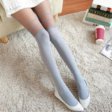 Fashion Girl Women Sexy Chiffon Tights False High Stocking Pantyhose High Knee Tattoo Tights