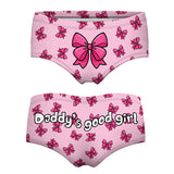 Yes Daddy Words pink love 3D Print  Underwear Women female pink Sexy  Panties   Briefs Panty lingerie Intimates