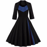 Women Clothing Pin UP Vestidos Spring Autumn Retro Casual Party Robe Rockabilly 50s 60s Vintage Dresses