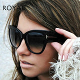 ROYAL GIRL Luxury Brand Designer Women Sunglasses Oversize Acetate Cat eye Sun glasses Sexy Shades