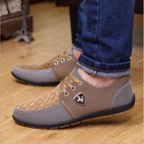 Mens Casual Shoes mens canvas shoes for men shoes men fashion Flats Leather brand  fashion suede Zapatos de hombre