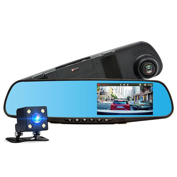 Dual HD Rear-view Mirror Dash Cameras