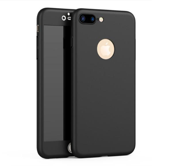 Super Slim 360 Full Body Case for iPhone + Tempered Glass Screen Protector