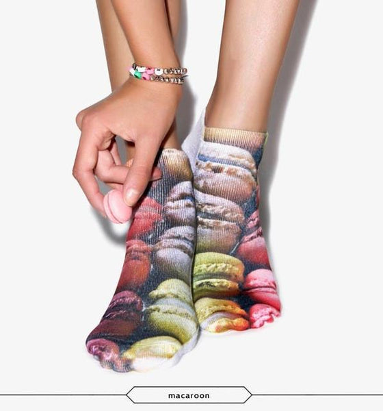 The Colorful Print Women's Cotton Socks Collection