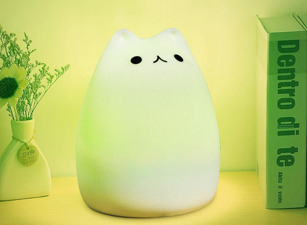 The Color Changing Cute Cat Touch Lamp