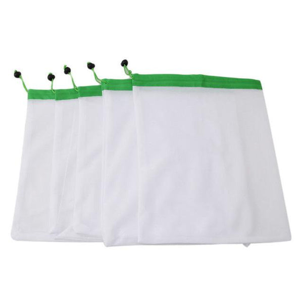 5 Pack of Premium Reusable Eco Friendly Produce Mesh Bags