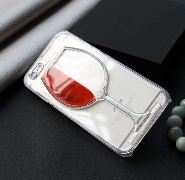 Wine Transparent Phone Case