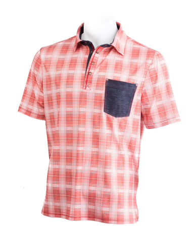Red Plaid Sandy Polo