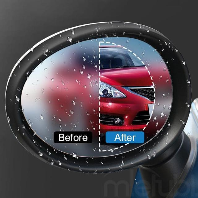 2 PCS CAR REARVIEW MIRROR RAINPROOF FILM