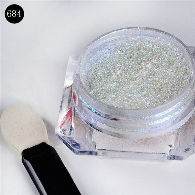 8pcs MAGIC MIRROR NAIL GLITTER POWDERS
