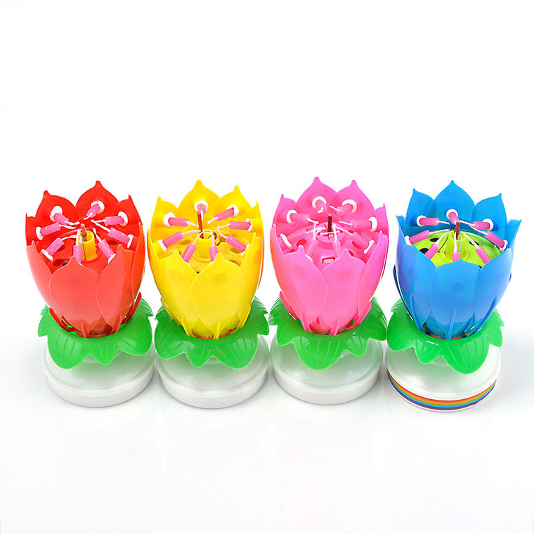 Blooming Lotus Birthday Candles