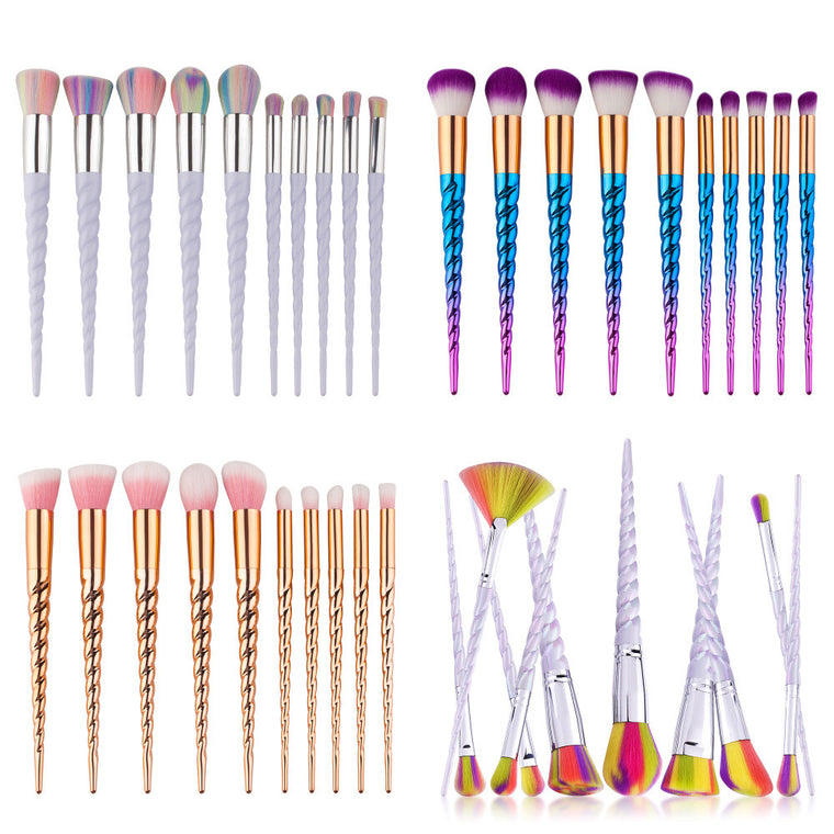 Unicorn™ Makeup Brushes 10 PCs Set