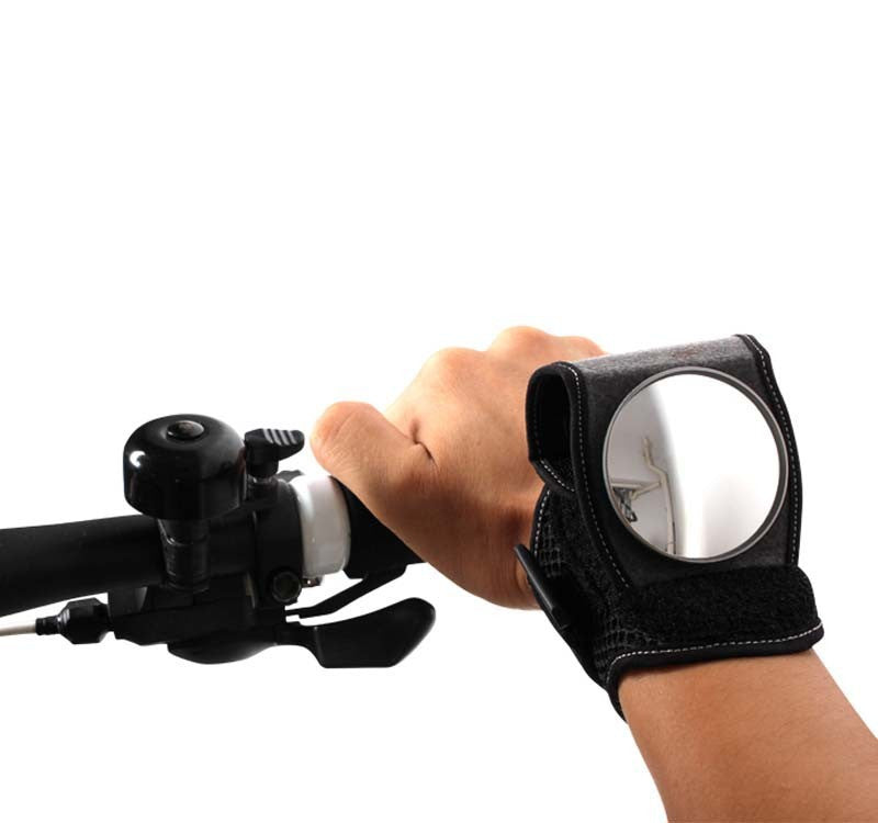 Image result for bicycle wrist rear view mirror gif