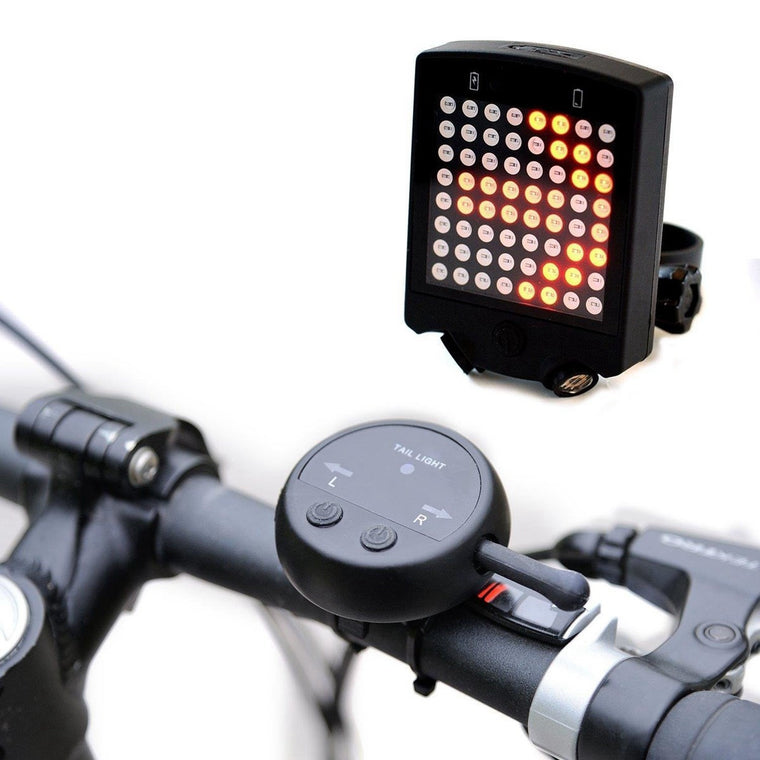 LED Laser Bicycle Rear Tail Light USB Rechargeable