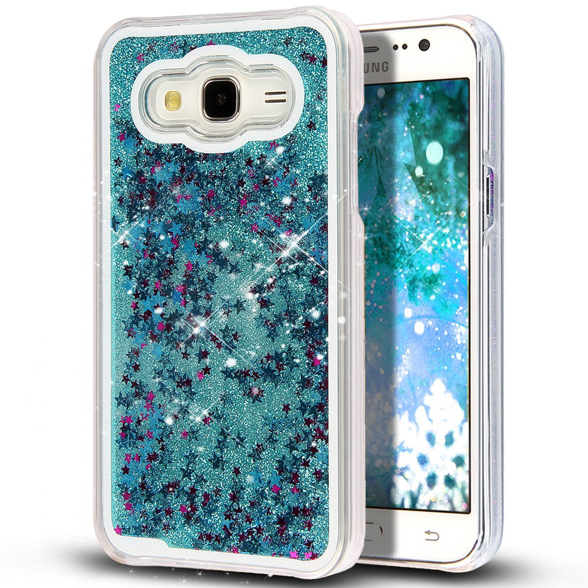 Galaxy J5 Case Liquid Glitter Case for Samsung Galaxy