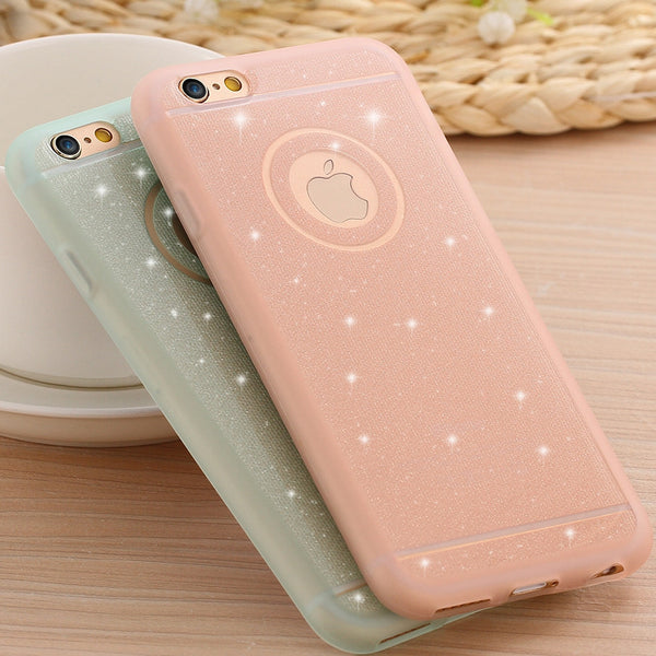 Glitter Powder Soft Ultra Thin Shining Back Cover Protective for iphon 6 Plus