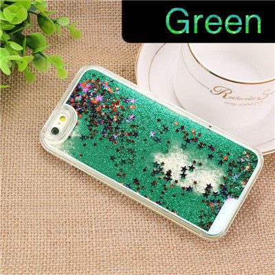 NEW Luxury Glitter Liquid Sand Quicksand Star Case for iphone 4 4S 5 5S SE 6 6S Plus Transparent Clear Hard Cover