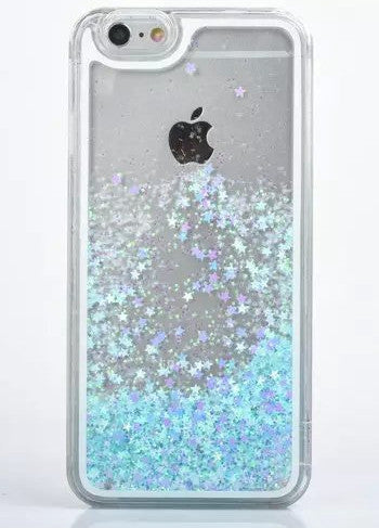 Liquid Glitter Sand 3D Stars Back Case Cover Case