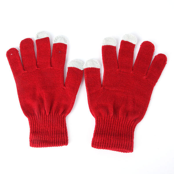 Winter Vogue Knitted Full Finger Gloves Mittens For Smart Phone Tablet Click Screen