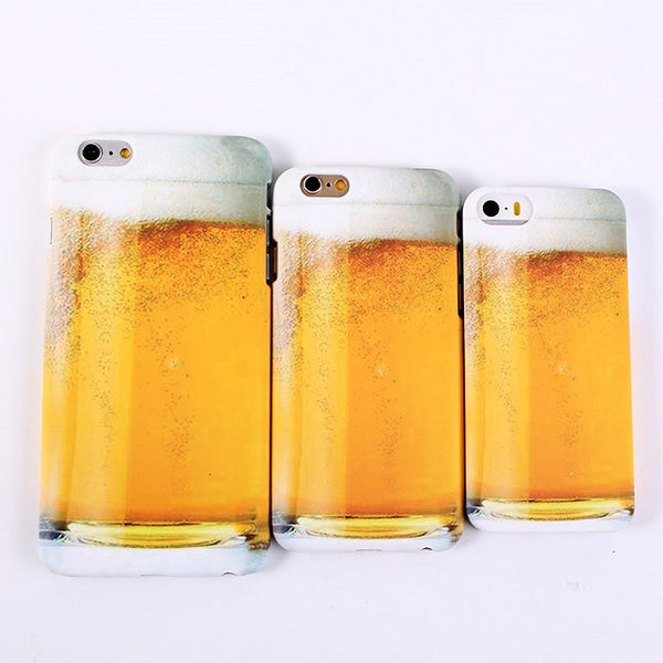 New Style Cool Beer Mug Beer Cup Model Plastic Material Cover Case for iPhone 5S 5 5G SE