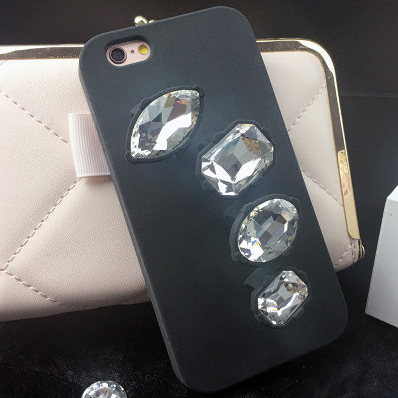 Super Cool! Luxury Fashion  Ge, Ring Cover Cases For iphone 6plus 6 6S Lady Style Bracket Silicone PHone Shell EK1530
