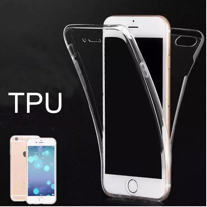 Ultra Thin Clear Transparent Soft Case For iPhone6 6S iphone 6PlusCell Phone Front and rear double-sided TPU Cover Case SJK1235