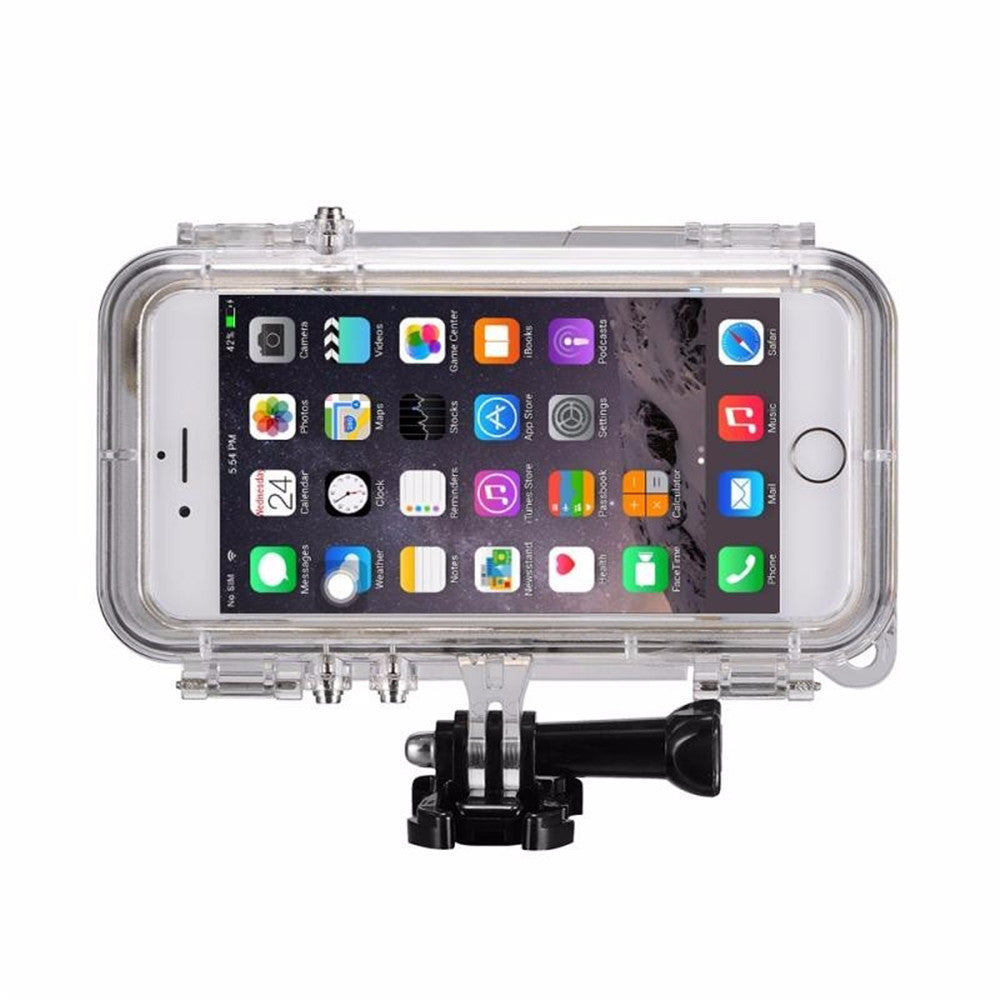 Waterproof Case for iPhone 6 6S 5S SE 6 Plus Extreme Sports Waterproof Case 120 Degrees Wide Angle Lens for GoPro Accessories