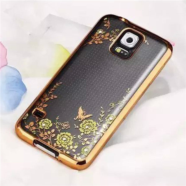 Luxury Secrect Garden Flower Cover Cases For Samsung Galaxy S5