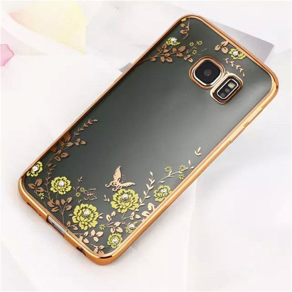 Luxury Secrect Garden Flower Cover Cases For Samsung Galaxy S6 Edge