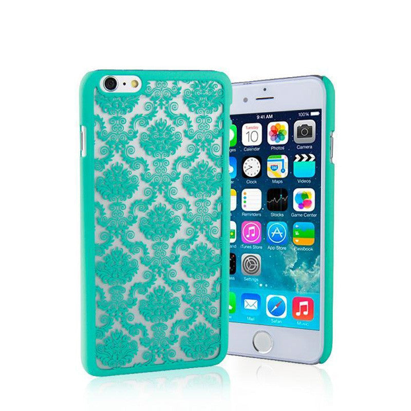 iphone 6 Vintage Flower Pattern Fashion Luxury Back Cover Case