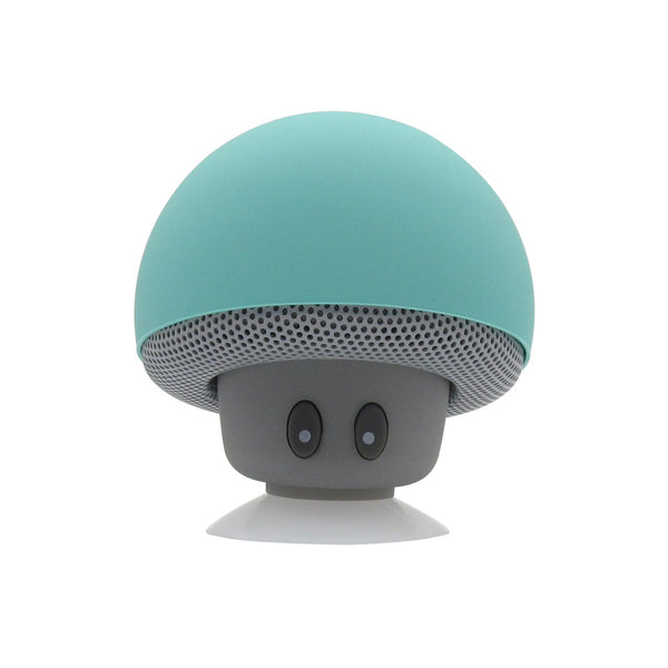 Mushroom Mini Wireless Bluetooth Speaker Waterproof Silicone Sucker