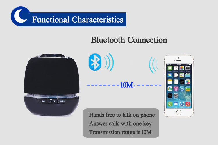 Short Round Wireless Bluetooth Speaker