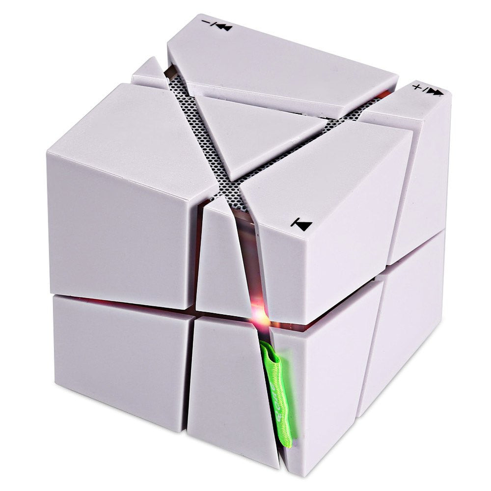 Qone Cube  Stereo wireless Bluetooth Speaker With LED Light